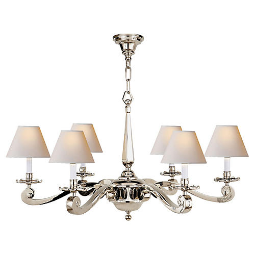 Myrna Chandelier, Polished Nickel