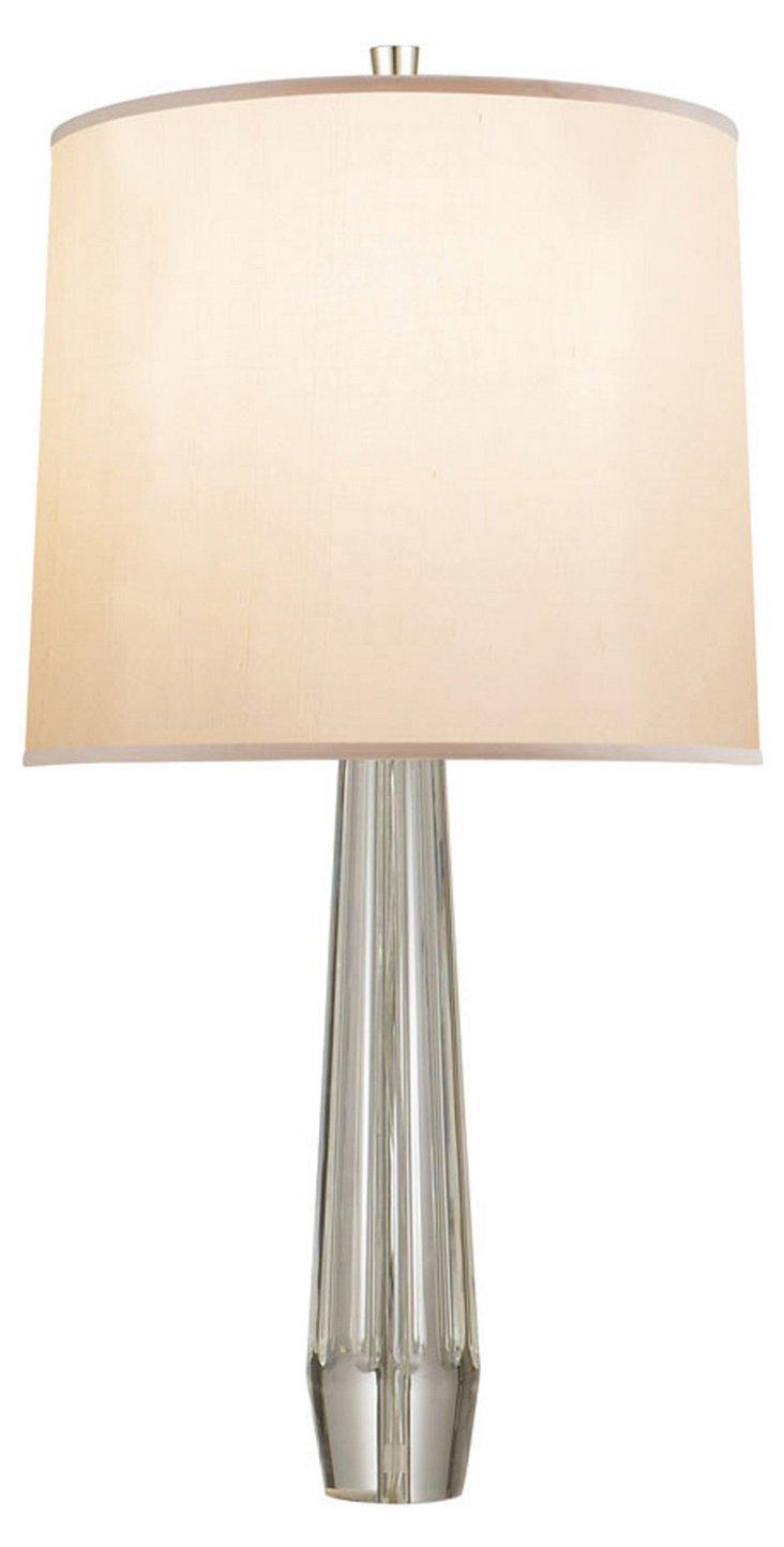 High Society Table Lamp, Clear Crystal