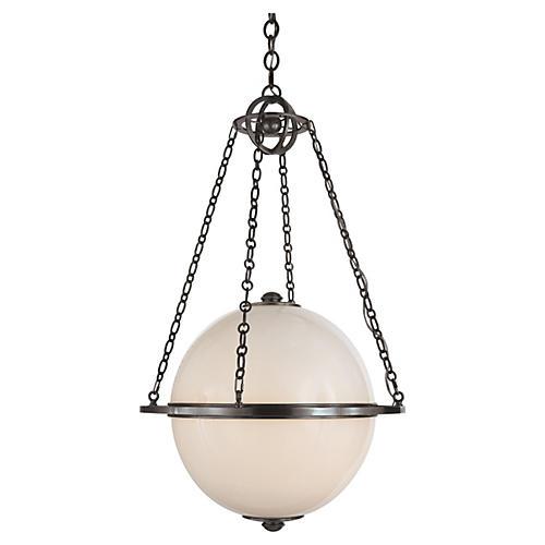 Modern Globe Pendant, Bronze