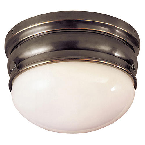 Crown Small Flush Mount, Bronze