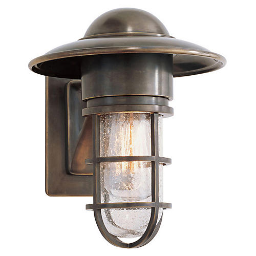 Marine Indoor/Outdoor Wall Light, Bronze