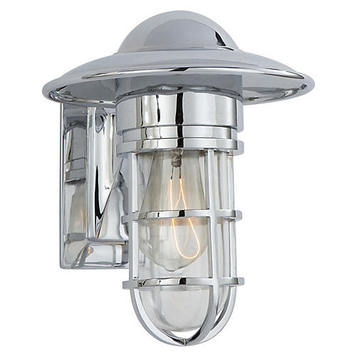 Marine Indoor/Outdoor Wall Light, Chrome