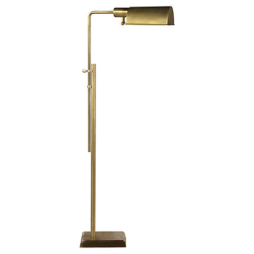 Pask Pharmacy Lamp, Antiqued Brass