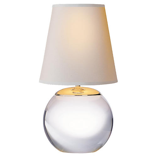 Terri Round Accent Lamp, Crystal