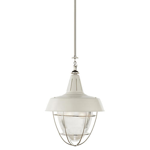Henry Industrial Hanging Light, Nickel