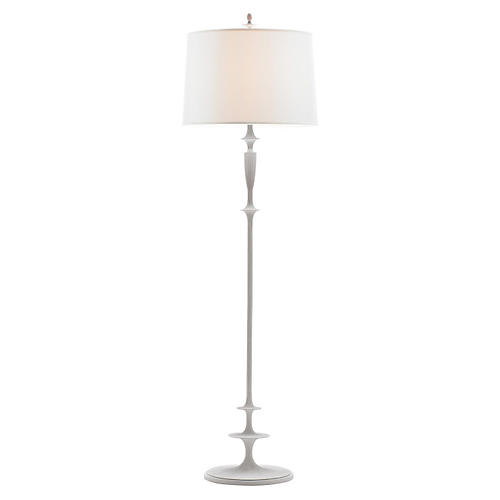 Lotus Floor Lamp, Plaster White