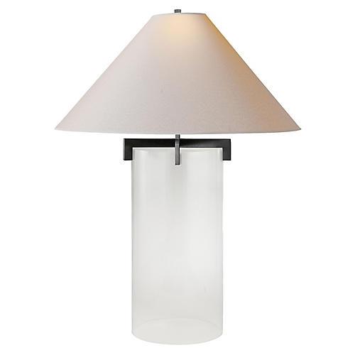 Brooks Crystal Table Lamp, Aged Iron