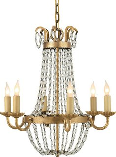 Paris Flea Market 6-Lt Chandelier, Iron