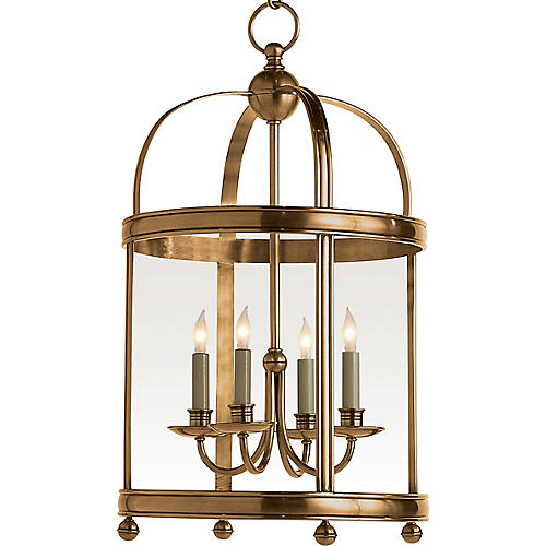Small Edwardian Arch 4-Lt Lantern, Brass