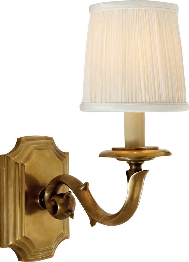 Sussex 1-Light Sconce, Brass