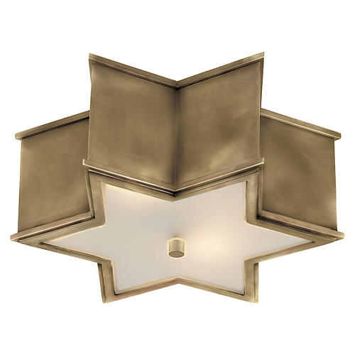 Sophia Flush Mount, Brass