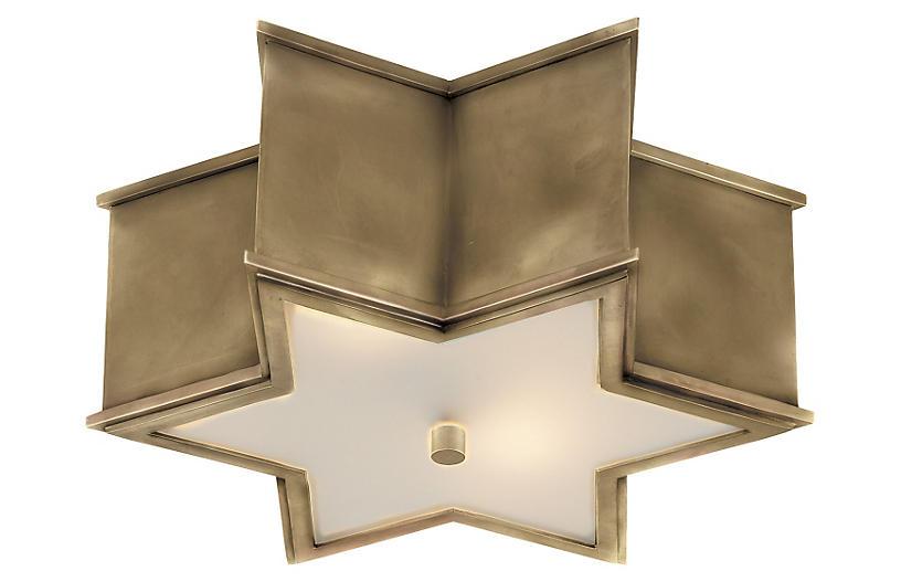 Sophia Flush Mount, Brass