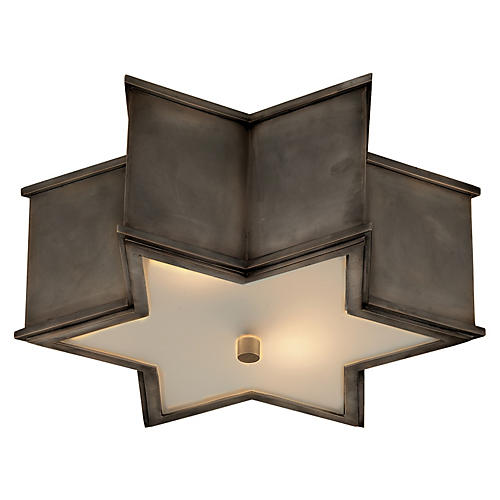 Sophia Flush Mount, Gunmetal