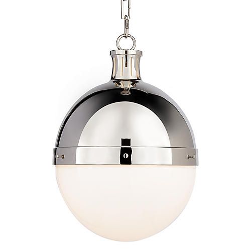 Hicks Pendant, Polished Nickel