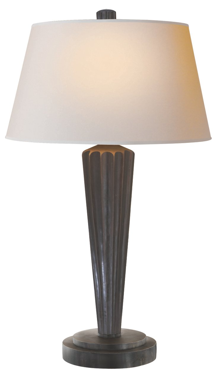 Vance Table Lamp, Aged Iron