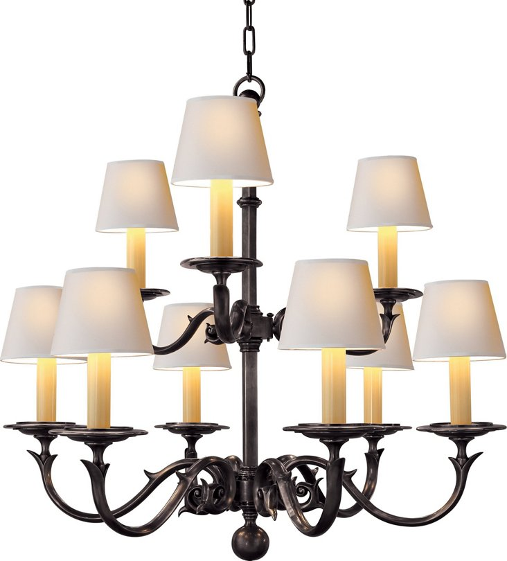 Two-Tier Sussex Chandelier, Bronze