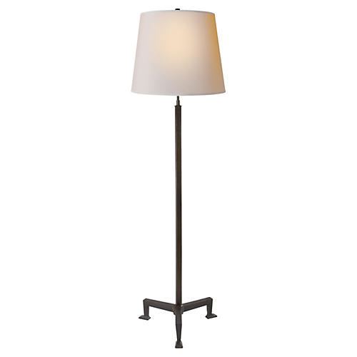 Parish Floor Lamp, Aged Iron