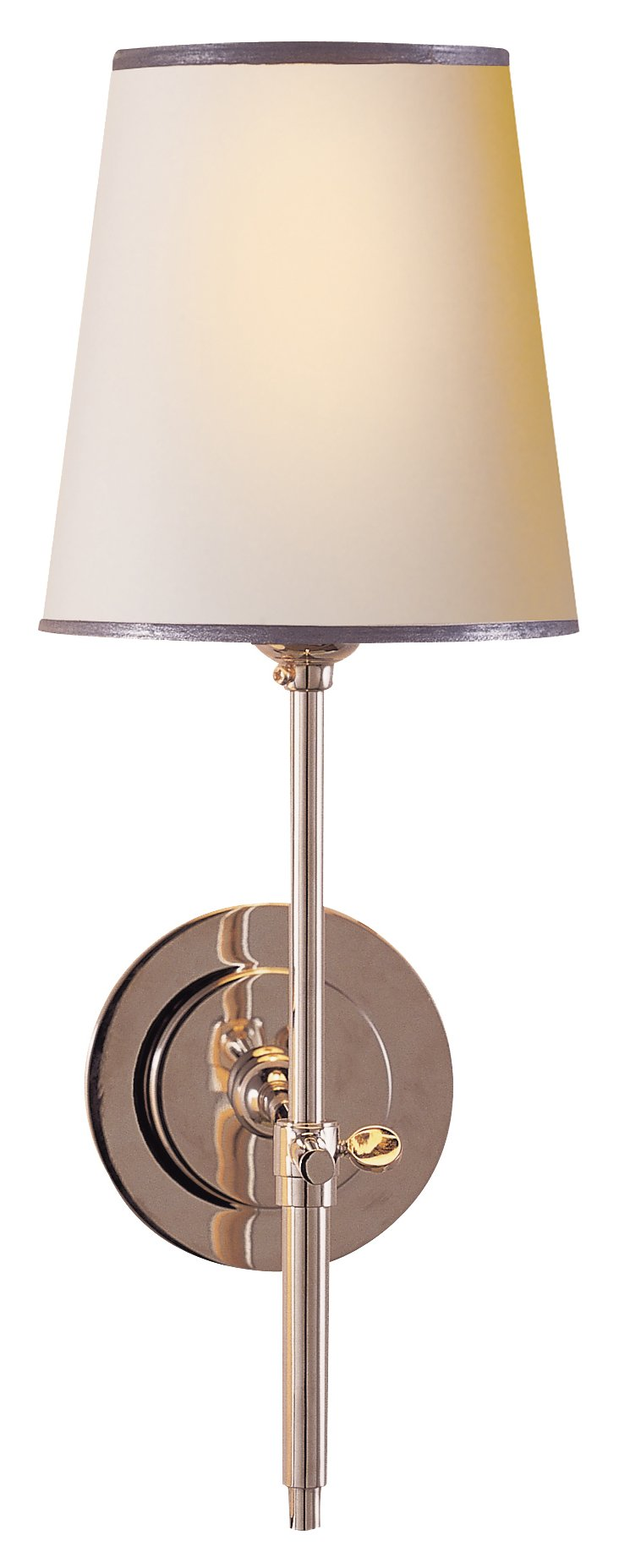 Bryant 1-Light Wall Sconce, Silver