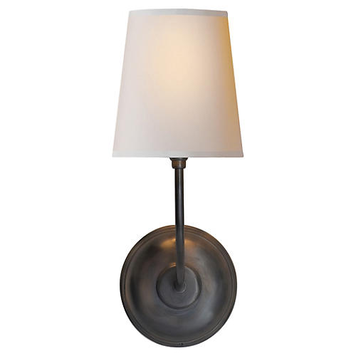 Vendome Single Sconce, Bronze