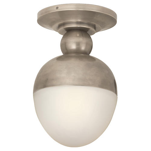 Clark Flush Mount, Antique Nickel