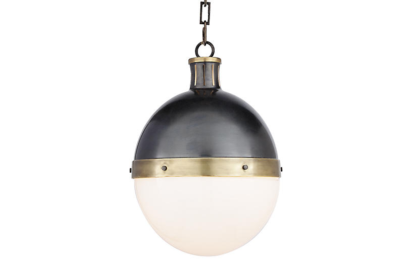 Hicks Pendant - Bronze & Brass - Visual Comfort & Co.