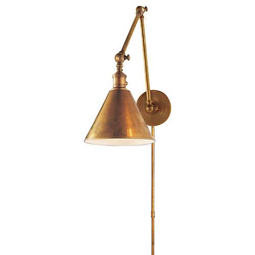 Double Boston Library Light, Brass