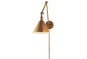 Double Boston Library Light, Brass*