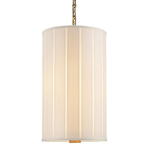 Perfect Pleat Lantern, Brass