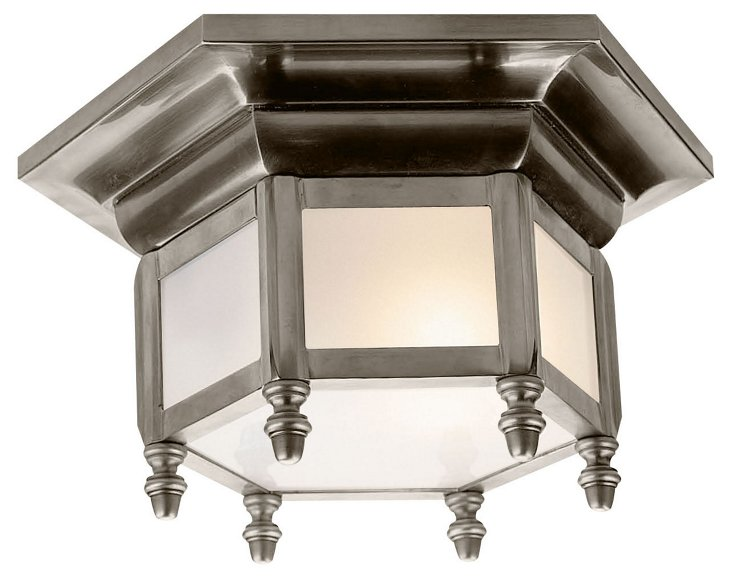 Hexagonal Flush Mount, Nickel