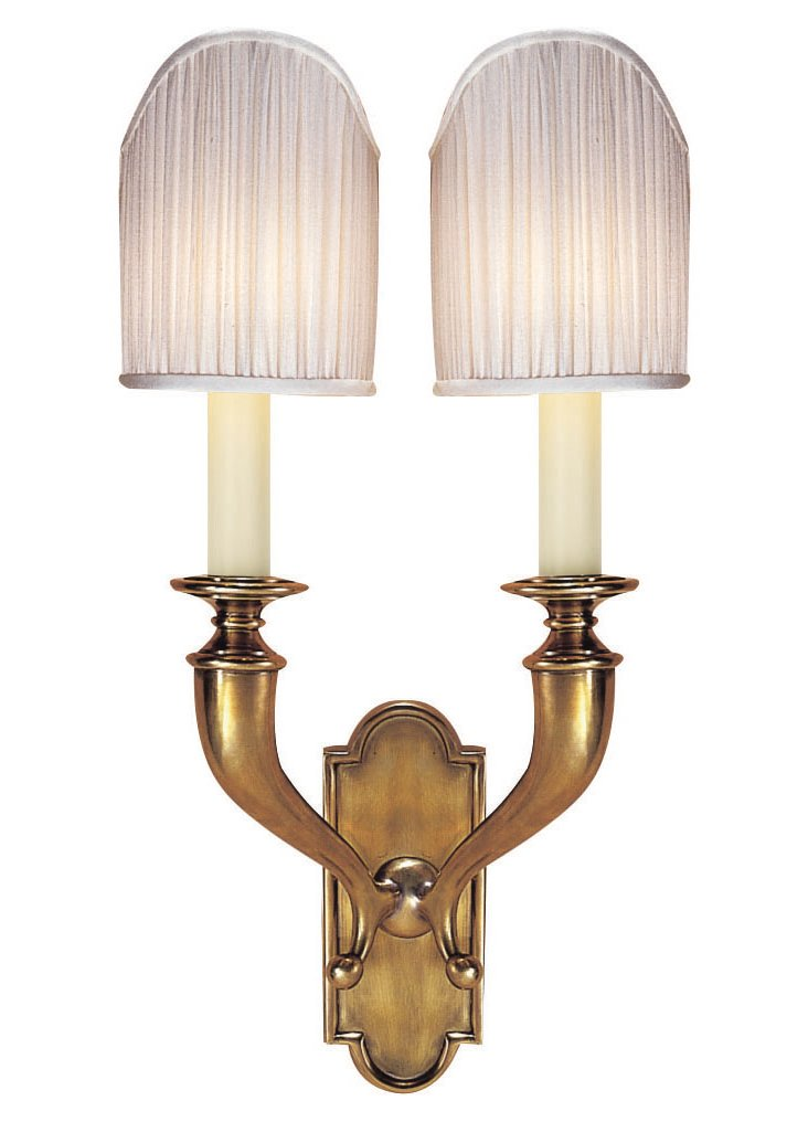 Horn 2-Light Wall Sconce, Brass
