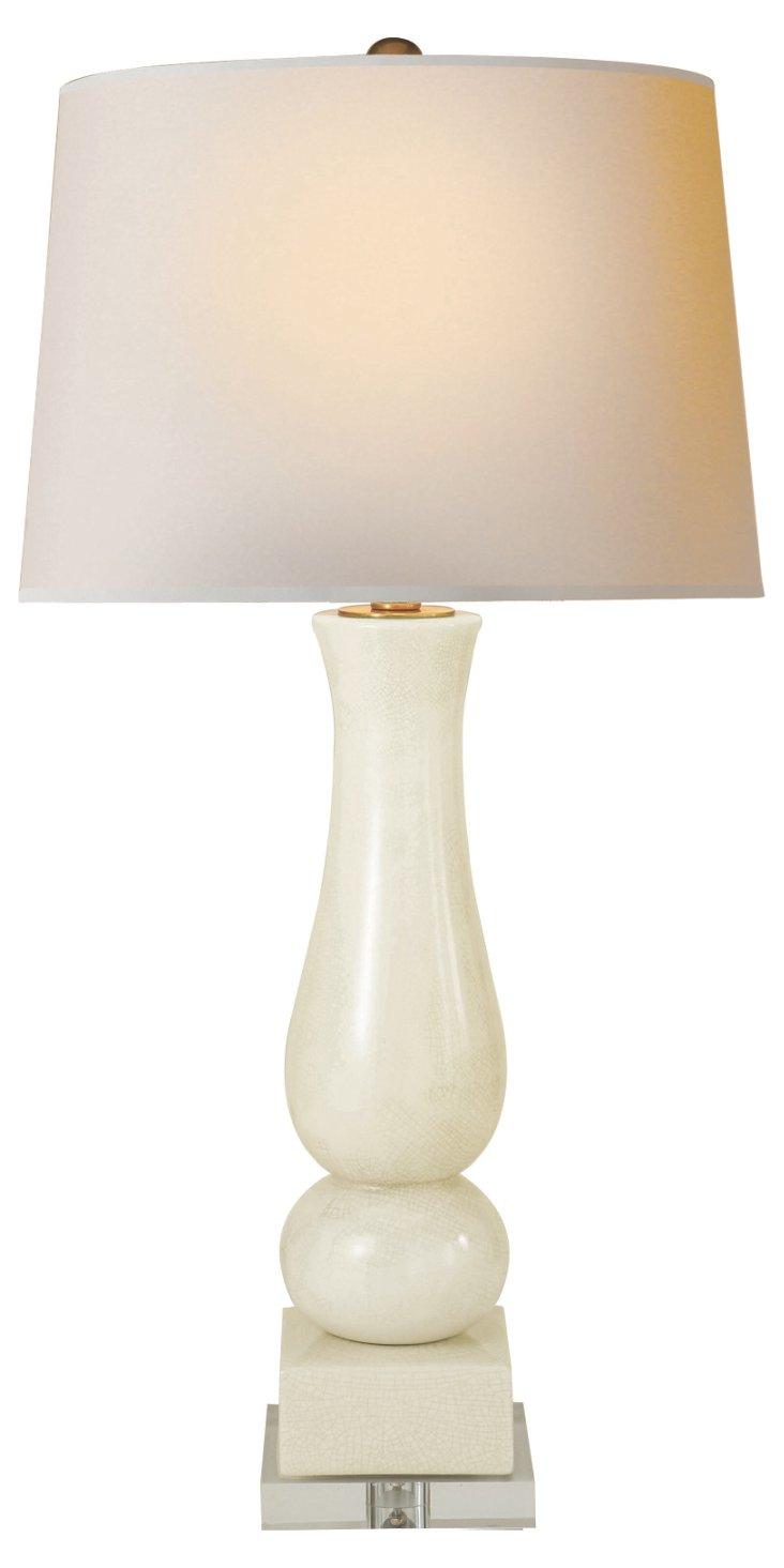 Balustrade Table Lamp, Tea Stain