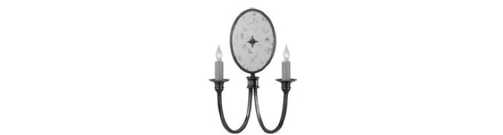 Venetian 2-Light Sconce, Polished Nickel