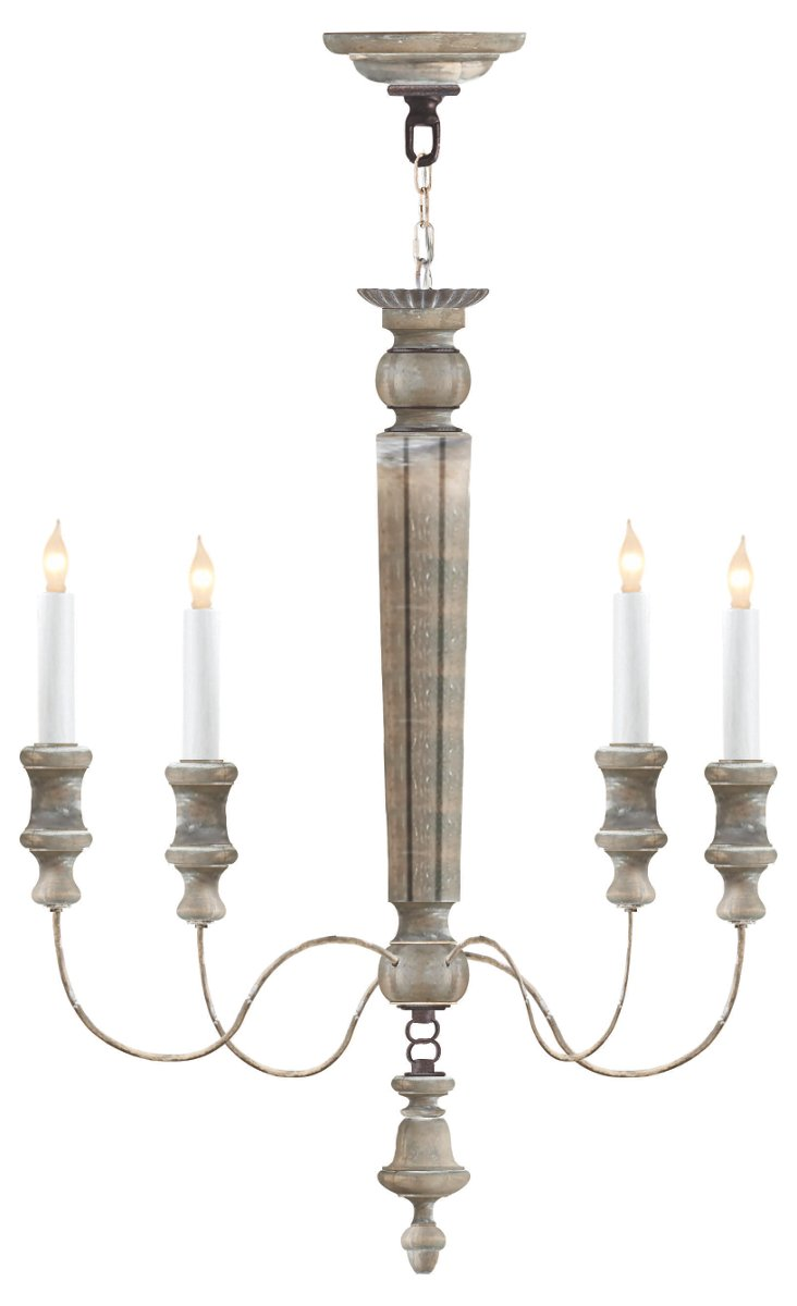 Chambord 4-Light Chandelier, White