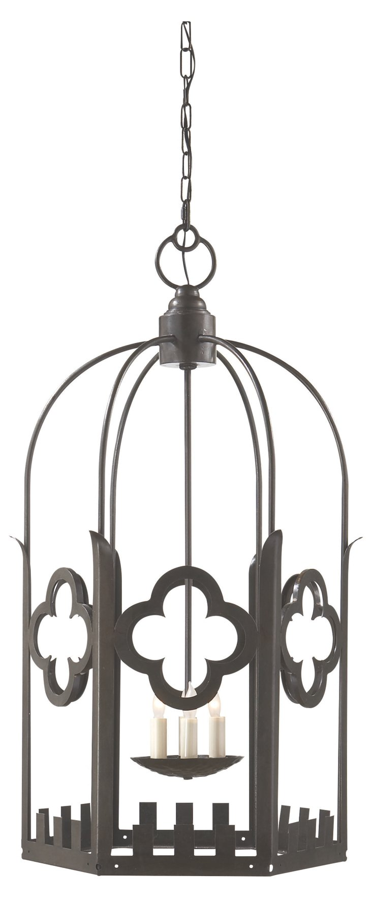Baltic 4-Light Hanging Lantern, Aged