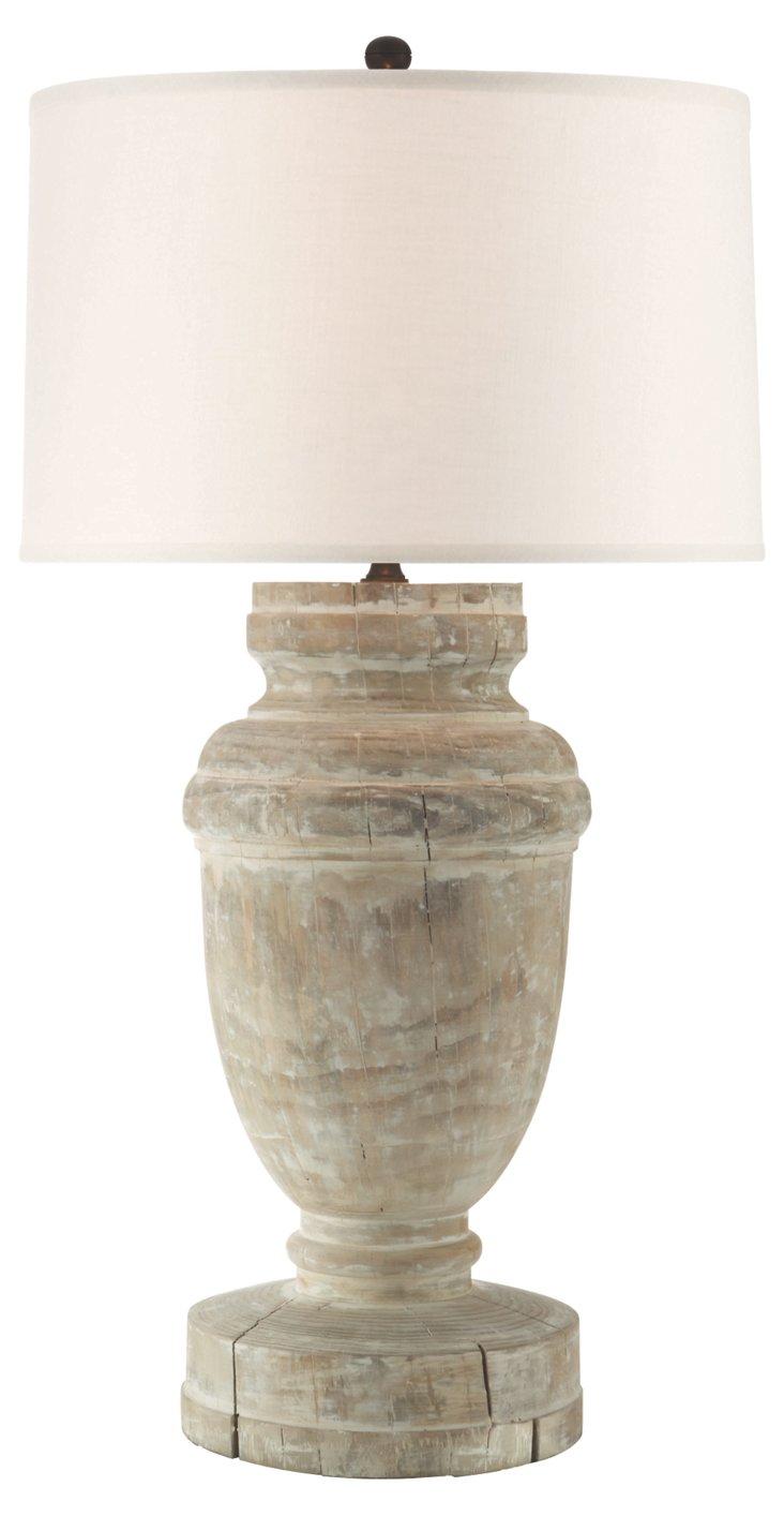 Stoan Table Lamp, Belgian White