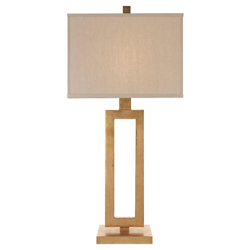 Tall Mod Table Lamp, Gild