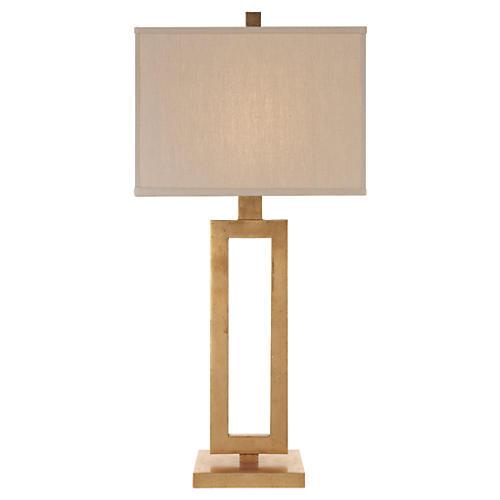 Tall Mod Table Lamp, Gild