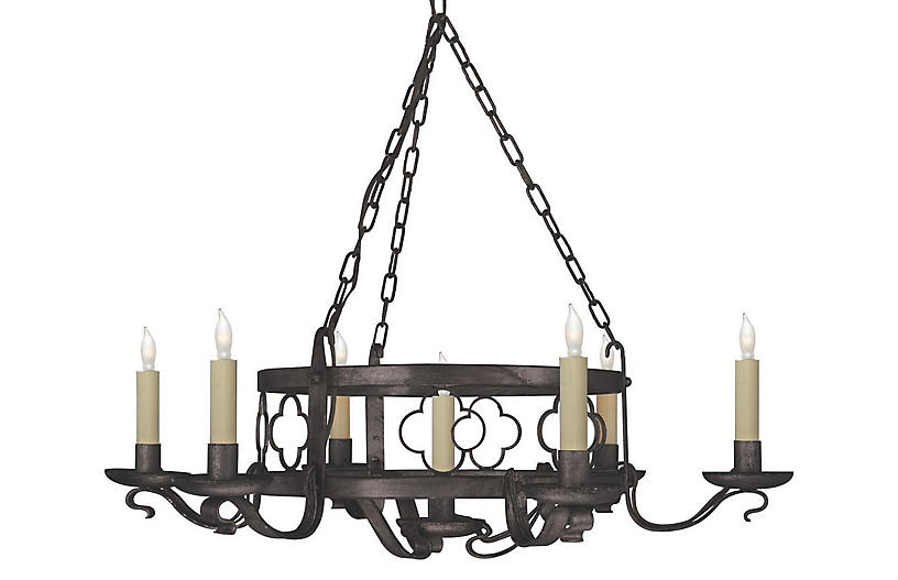 Margarite 7-Light Chandelier, Aged Iron