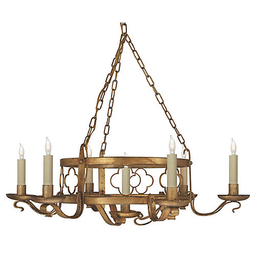 Margarite 7-Light Chandelier, Gilded