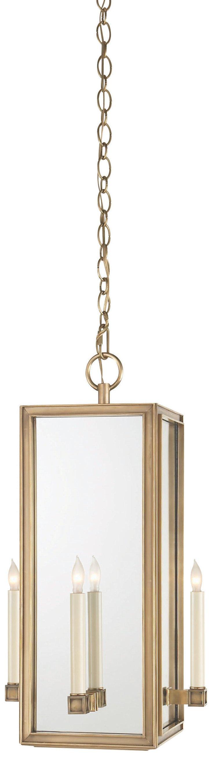 Lund 4-Light Pendant, Brass