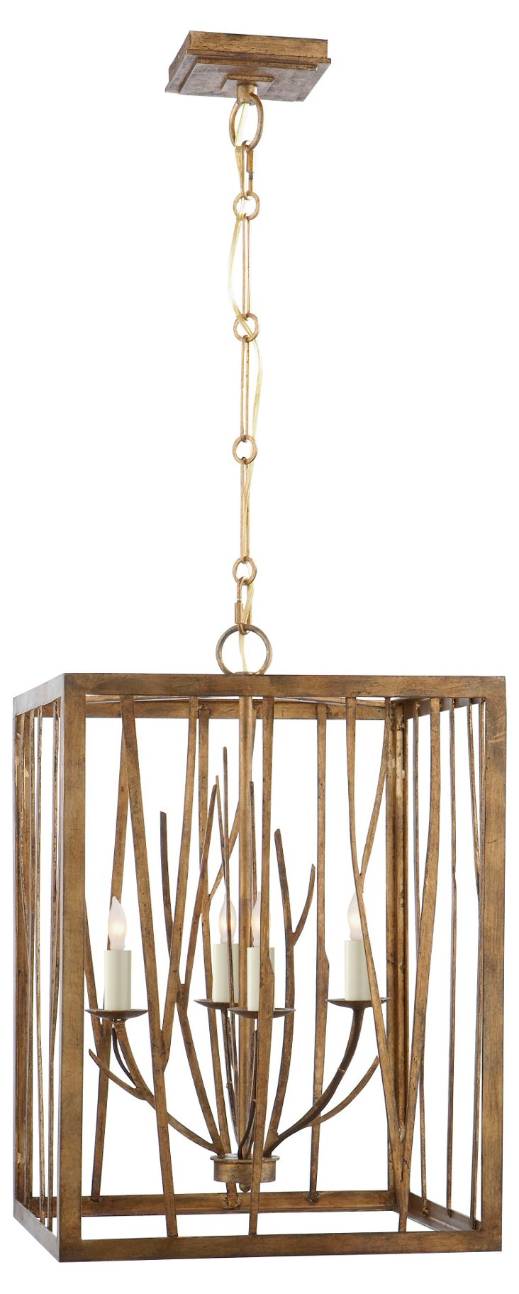 Aspen 4-Light Chandelier, Iron