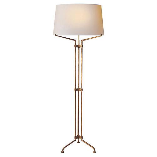 Terrazo Tri-Leg Floor Lamp, Gilded Iron
