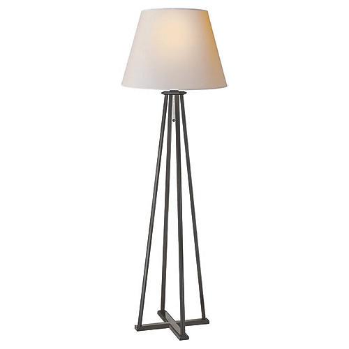 Hannah Floor Lamp, Aged Iron