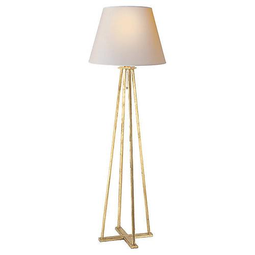 Hannah Floor Lamp, Gilded Iron