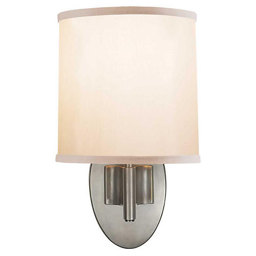 Graceful 1-Light Sconce, Pewter