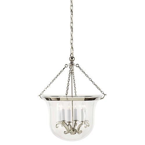 Country Bell 6-Light Lantern, Nickel