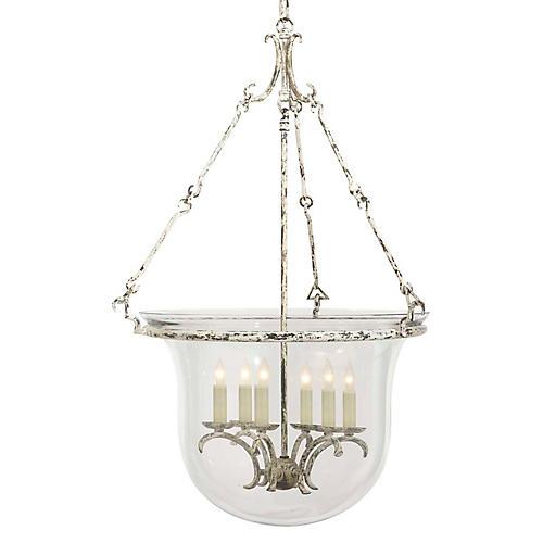 Country Bell 6-Light Lantern, White