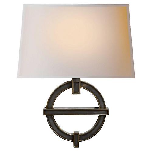 Symbolic 1-Light Sconce, Bronze