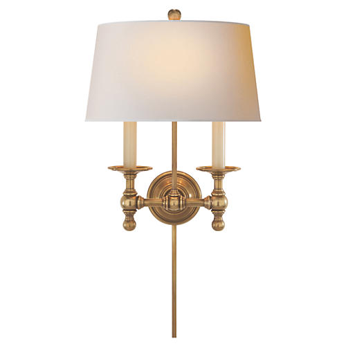 Washington 2-Light Sconce, Brass