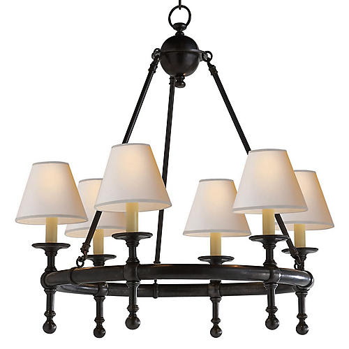 Castle 6-Light Chandelier, Bronze
